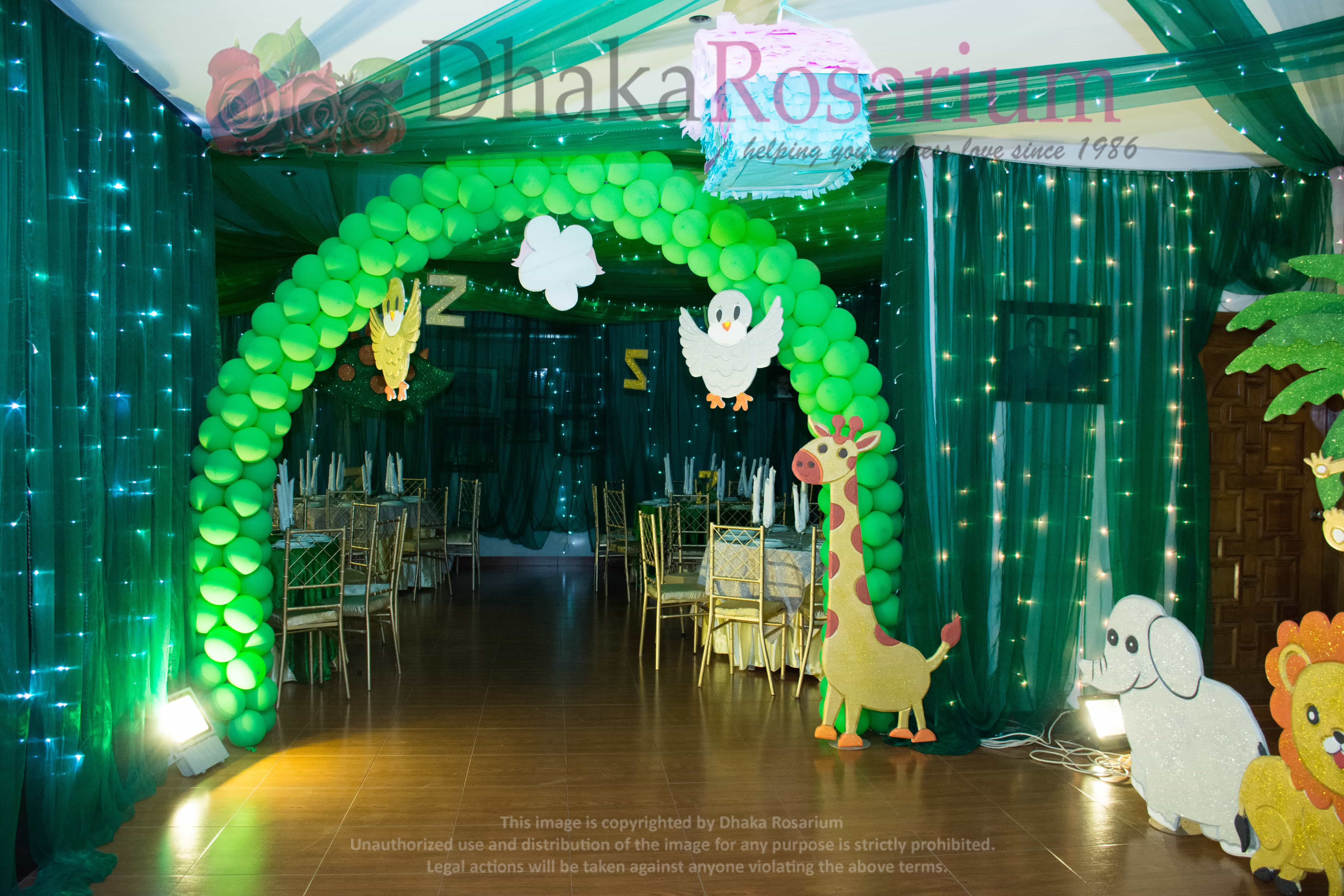 Theme Jungle zavian fun party ( jungle theme) | dhaka rosarium